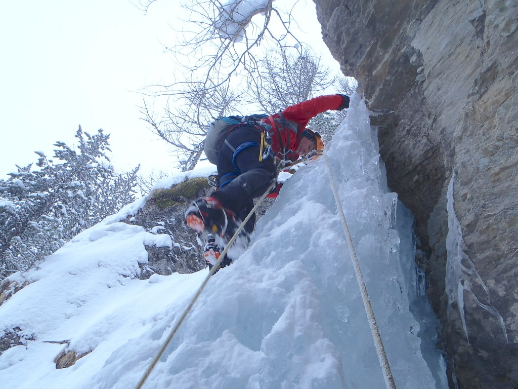 stage cascade de glace, initiation, perfectionnement